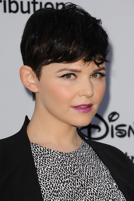 Ginnifer Goodwin puckered up to Radiant Orchid with a metallic finish, at a Disney soiree.