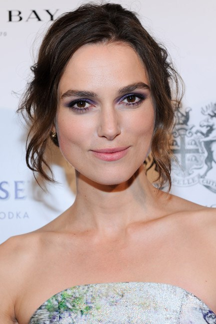 Keira Knightley opted for a subtle Radiant Orchid to line her upper-lids at a Hudson's Bay and Grey Goose Vodka gathering.
