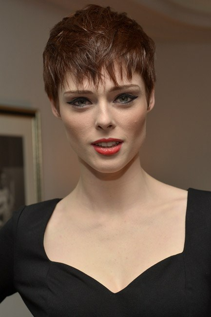 <strong>AFTER: Coco Rocha<br> Oh boy: Coco Rocha</strong> dared to cut off her floaty feminine mane and swap it for an androgynous crop and it paid dividends.