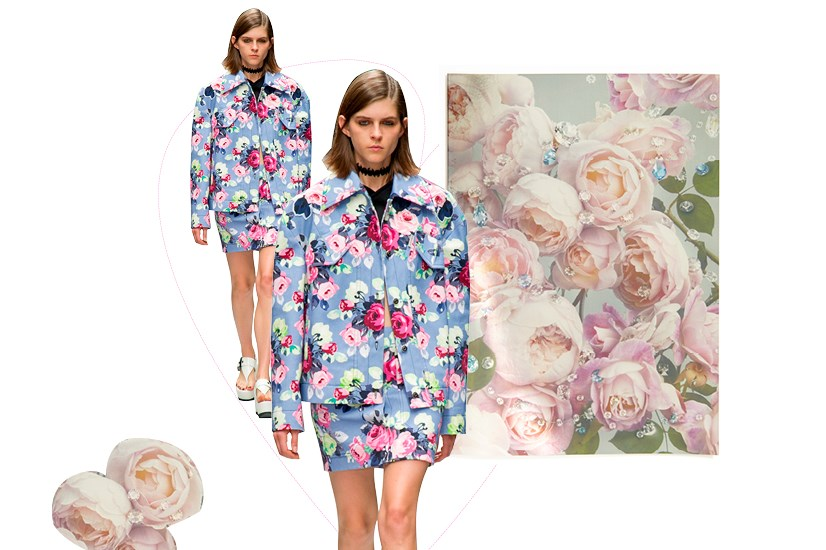 Swarovski's festive blooms remind us of the roses stamped across new-season designs by Carven