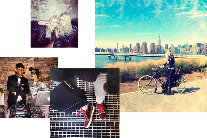 """<b><a href=""""http://instagram.com/chelsealeyland"""">@chelsealeyland</a></b><br> Follow for: Watching the go-to fashion DJ, and her entourage of model pals, in front and behind the decks"""