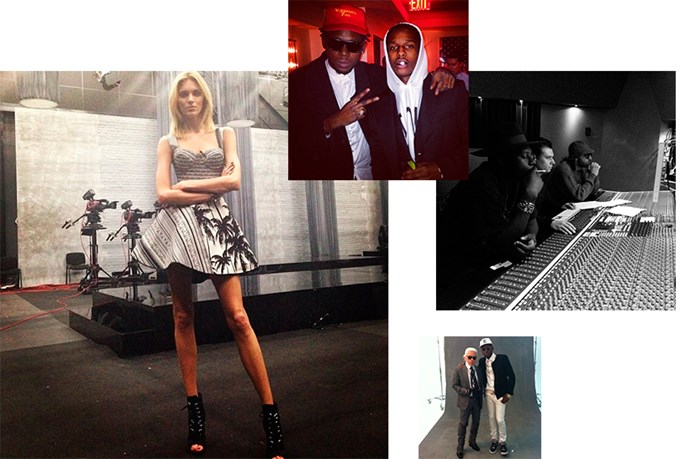 """<a href=""""theophiluslondon"""">@theophiluslondon</a><br> Follow for: The rapper counts Anja Rubik, A$AP Rocky and Karl Lagerfeld as pals."""