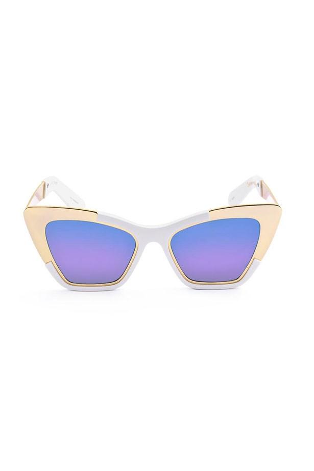 "Sunglasses, $349, Karen Walker, <a href=""http://www.karenwalker.com "">karenwalker.com </a>"