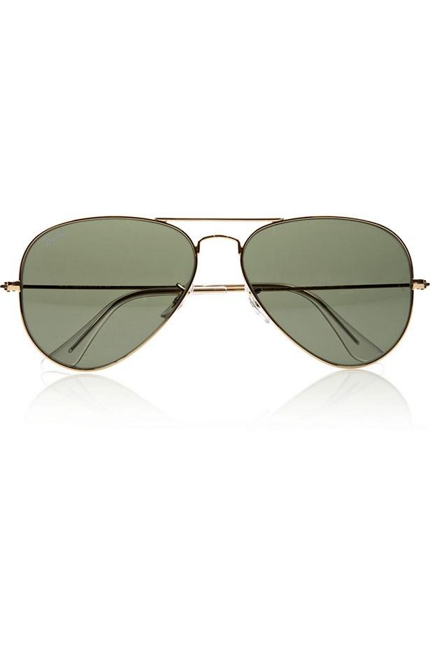 "Sunglasses, $239.95, Ray-Ban, <a href=""http://www.sunglasshut.com.au"">sunglasshut.com.au</a>"