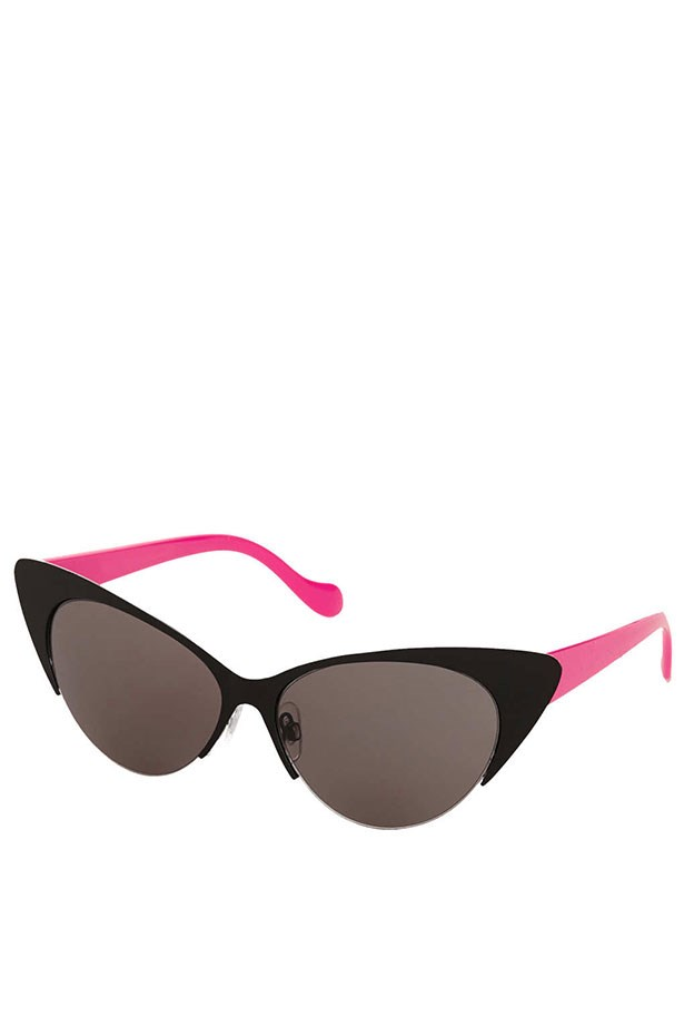 """Cats-eye sunglasses, $37, Topshop, <a href=""""http://www.topshop.com"""">topshop.com</a>"""