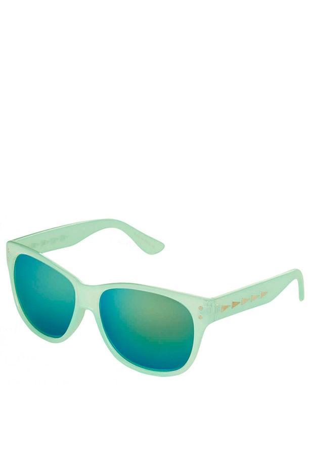 """Teal sunglasses, $30, Topshop, <a href=""""http://www.topshop.com"""">topshop.com</a>"""