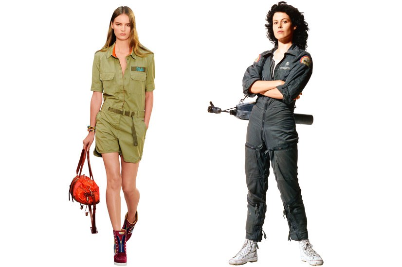 Tommy Hilfiger SS14 channels Ellen Ripley in <em>Alien </em>