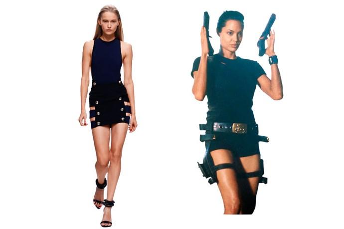 Anthony Vaccarello SS14 channels Lara Croft in <em>Tomb Raider</em>