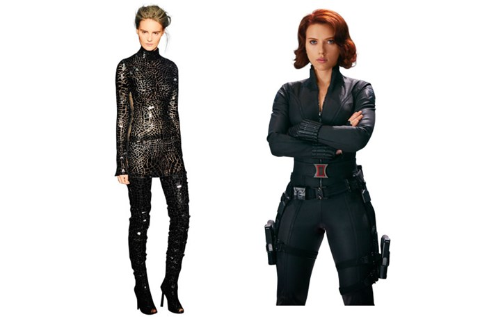 Tom Ford SS14 channels Black Widow in <em>The Avengers </em>