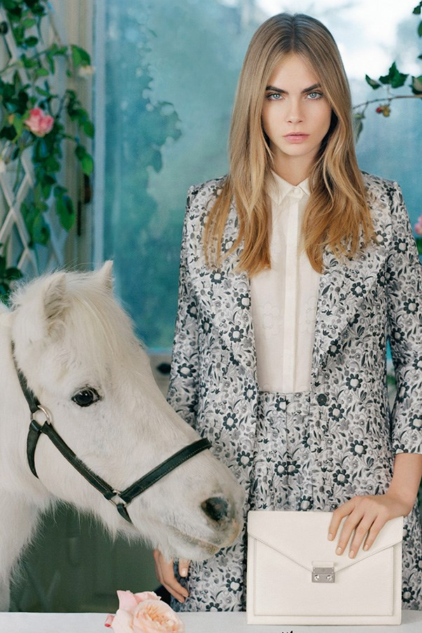 Cara Delevingne stars in Mulberry's SS14 campaign