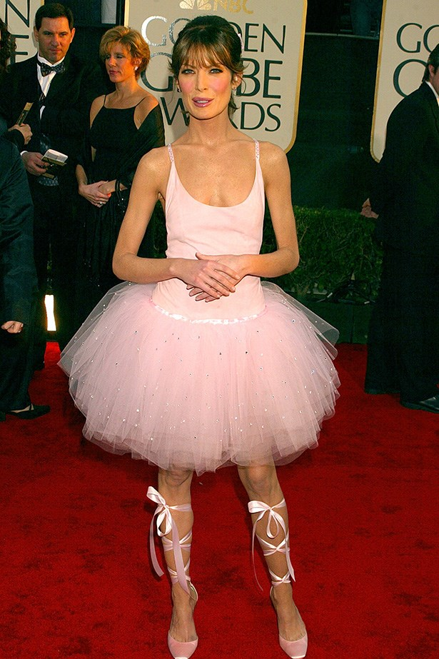 <strong>Lara Flynn Boyle, 2003</strong><br> Panned by some critics, admired by others, Boyle's David Cardona ballerina-style tutu and lace-up ribbon heels were certainly a daring choice. Given we're still talking about it more than a decade later, perhaps she deserves some credit for thinking outside the ball-gown bubble.