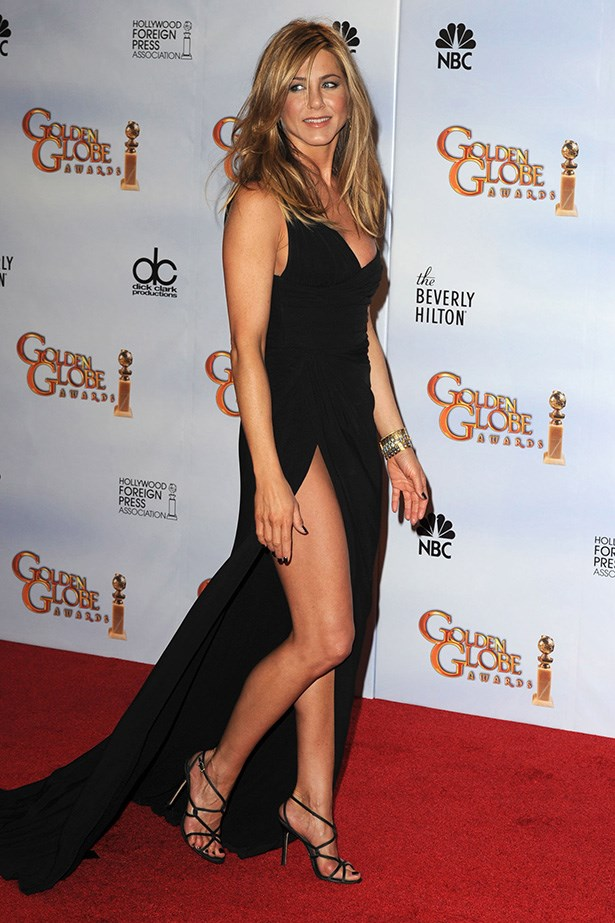 <strong>Jennifer Aniston, 2010</strong><br> Our favourite friend wowed the crowds in a sexy one-shoulder, Valentino couture gown with thigh-high split. It was the perfect choice for her style and figure – no wonder she's rumoured to be considering a Valentino gown for her wedding day!