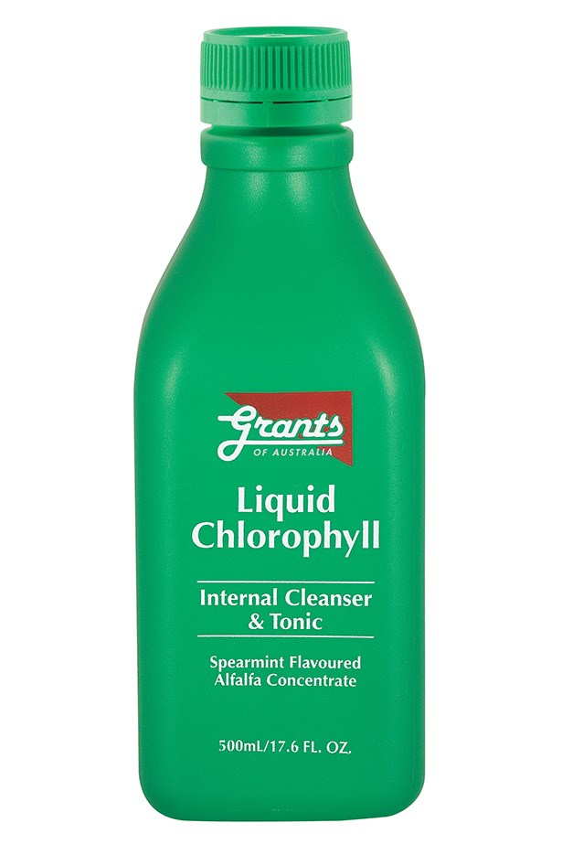 """The culmination of Christmas and New Year's festivities may make your liver shudder at the sight of an open champagne bottle.  Repair and re-energise with a Chlorophyll supplement, like Grant's Liquid Chlorophyll ($14.95, <a href=""""http://grantsofaustralia.com.au"""">grantsofaustralia.com.au</a>). A dose of alkalising body-cleanser removes toxins and acidity from blood and tissue, and boosts blood oxygen levels."""