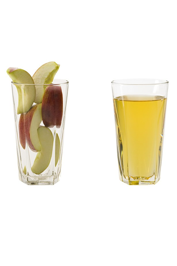Animal products, baked goods and fatty foods can cause gastrointestinal discomfort and the dreaded bloat. Highly acidic, apple cider vinegar stimulates digestion, reducing the amount of time fat remains in the digestive tract.  Taking 1-2 teaspoons of apple cider vinegar in water before each meal will reduce bloating and help the body break down proteins.
