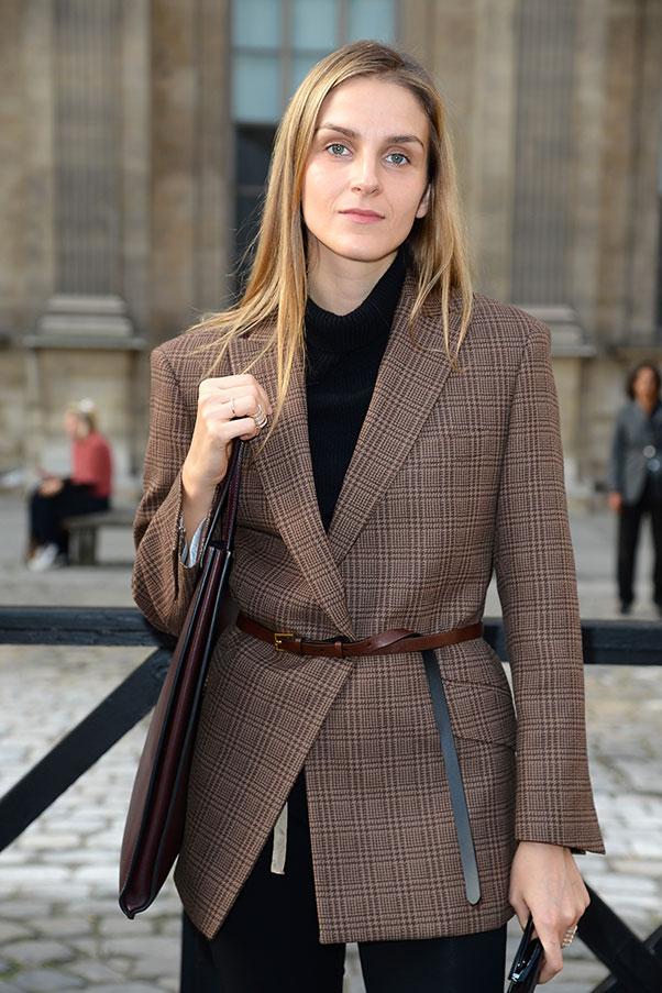Designer Gaia Repossi at Paris fashion week