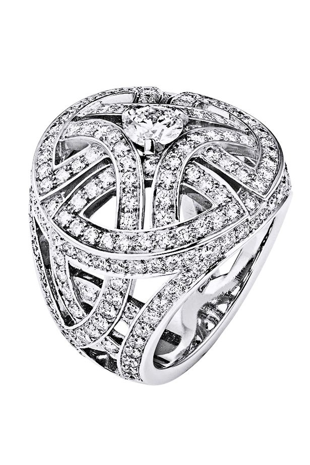 "<p>With 244 diamonds, this haute knuckleduster packs a 7.38 punch.</p> <p>Ring, POA, Cartier, <a href=""http://www.cartier.com"">cartier.com</a></p>"
