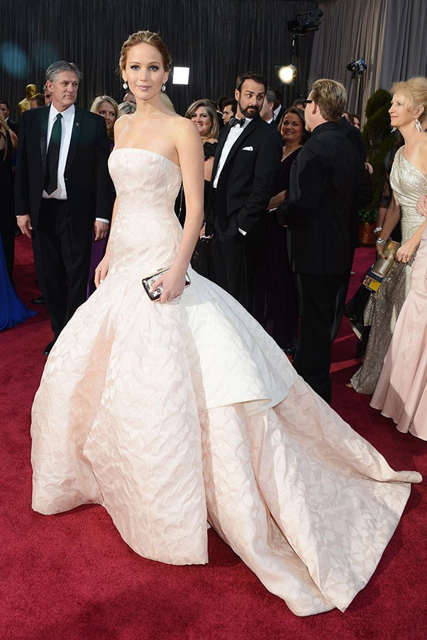 Jennifer Lawrence in Dior at the 2013 Academy Awards