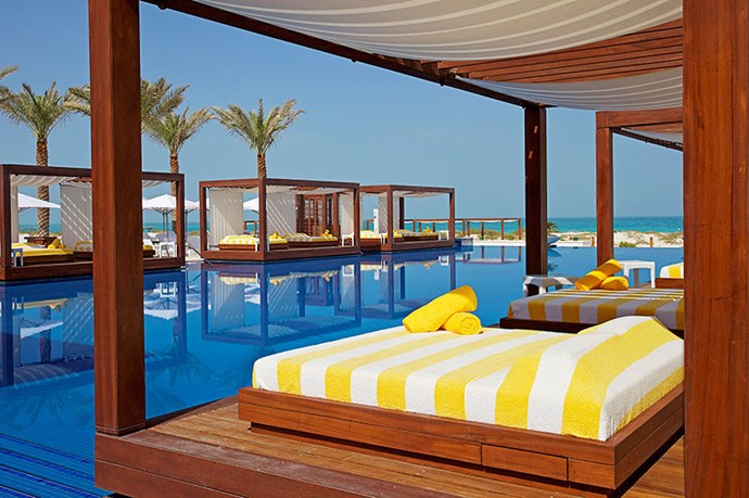 """<p><strong>MONTE-CARLO BEACH CLUB, ABU DHABI</strong></p> <p>There's one word for the private swim club that overlooks the sandy shores of Saadiyat Island: insane. Dive from your gigantic cabana straight into the crystal-clear pool. </p> <p>How to get in: beg, borrow or steal a member's card</p> <p><a href=""""http://www.montecarlobeachclub.ae"""">montecarlobeachclub.ae</a></p>"""