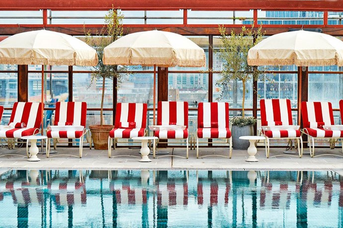 """<p><strong>SHOREDITCH HOUSE, LONDON</strong></p> <p>The best feature of the pool club at Soho House's East End outpost? It's a tie between the red-striped deckchairs and buff lifeguards.</p> <p>How to get in: cosy up to someone from the cast of <em>Made In Chelsea</em>.</p> <p><a href=""""http://www.shoreditchhouse.com"""">shoreditchhouse.com</a></p>"""