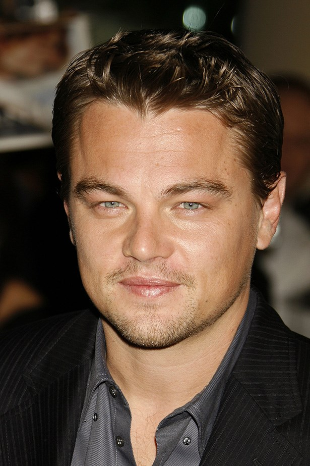 Nominated for a Golden Globe in 2007, DiCaprio went back to his textured hair look for an Academy Awards luncheon.