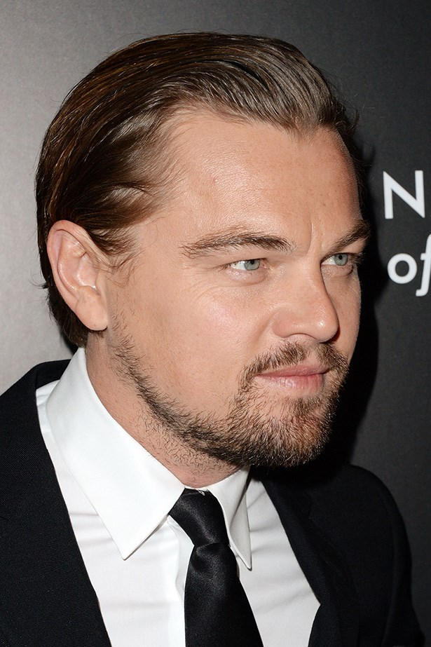 DiCaprio attended a Gala in New York in January this year with his now longer locks swept back and styled with gel.