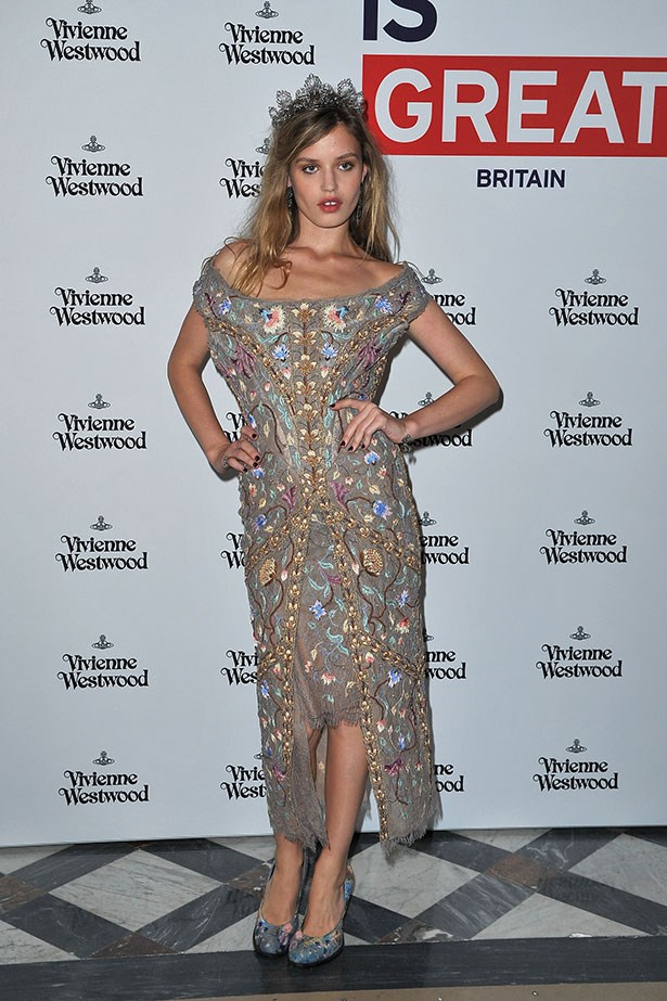 Georgia somehow makes dishevelled princess look alluring – in who else but Vivienne Westwood?