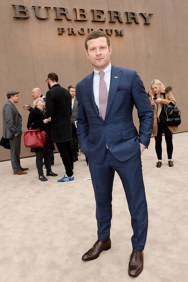 Dermot O'Leary at the Burberry Prorsum Menswear AW14 show