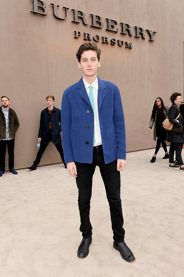George Craig wearing Burberry