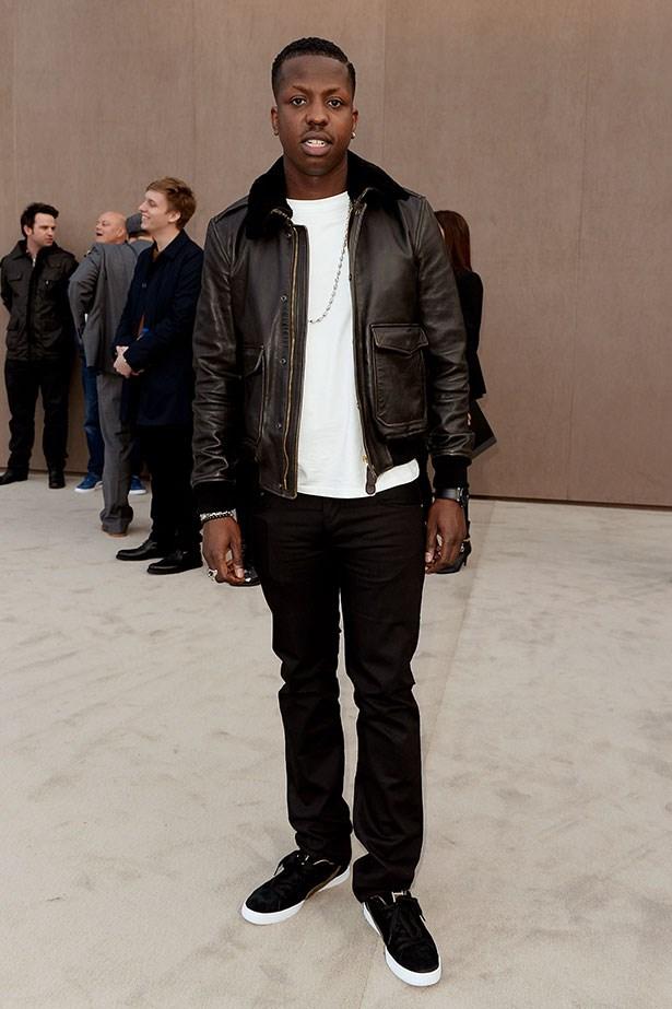 Jamal Edwards wearing Burberry