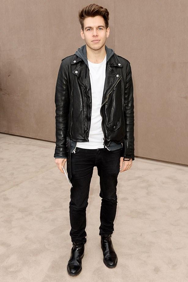 James Righton wearing Burberry