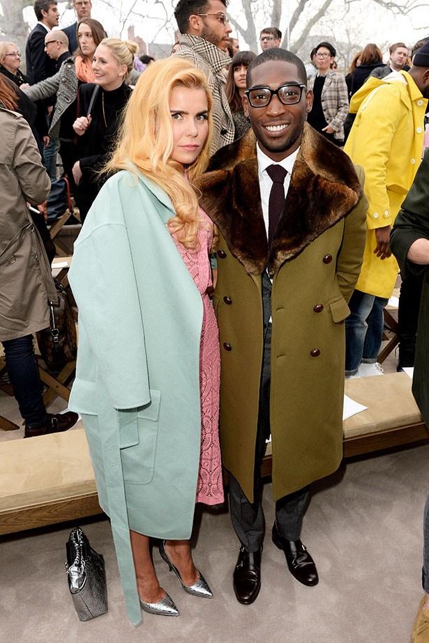 Paloma Faith and Tinie Tempah at the Burberry Prorsum Menswear AW14 show