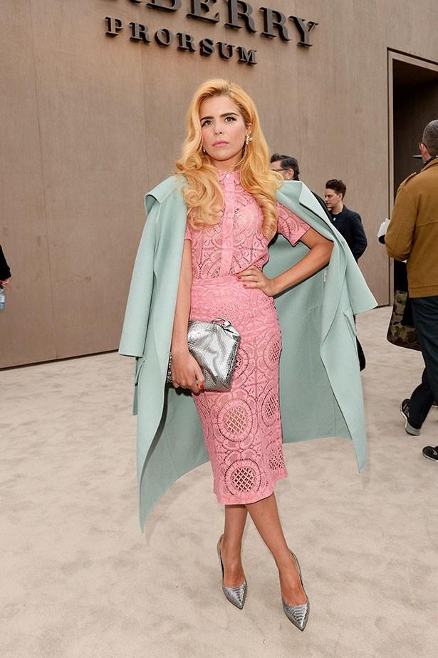 Paloma Faith wearing Burberry