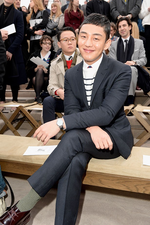 Yu Ah In at the at the Burberry Prorsum Menswear AW14 show