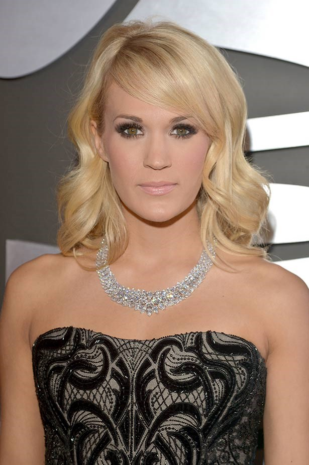 <strong>Carrie Underwood </strong><br> WOW. Just wow. The country crooner takes out the prize for most expensive music award show bling with the $31 million diamond Jonathon Arndt necklace she wore to the 2013 Grammy awards. The breathtaking piece was made up of a whopping 381-carats of oval, pear, marquis and round brilliant white diamonds. Surely she won't be able to top that this year?