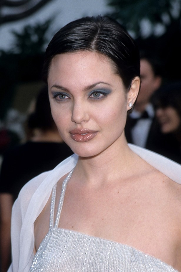 Angelina Jolie at the 55th Annual Golden Globes in 1998.