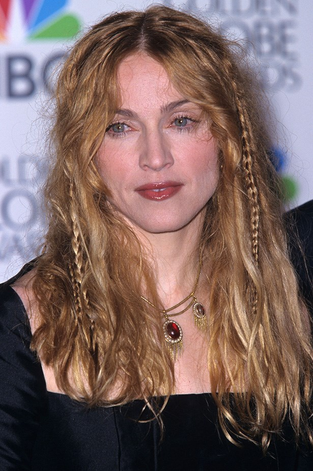 Madonna at the 55th Annual Golden Globes in 1998.