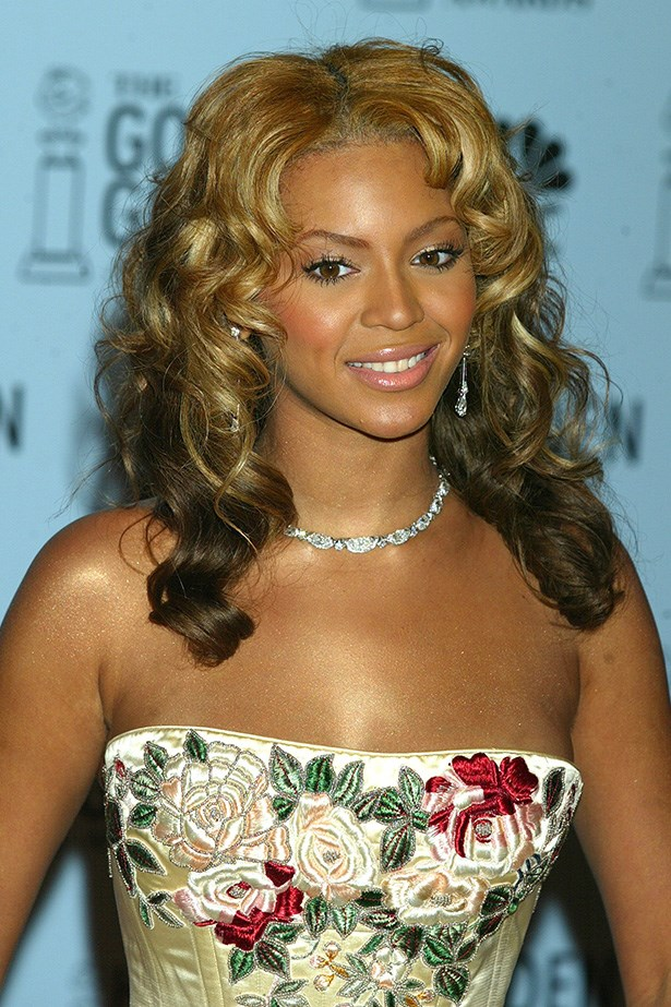 Beyonce at the 60th Annual Golden Globes in 2003.