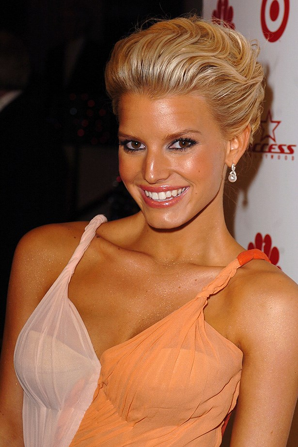 Jessica Simpson at the 61st Annual Golden Globes in 2004.