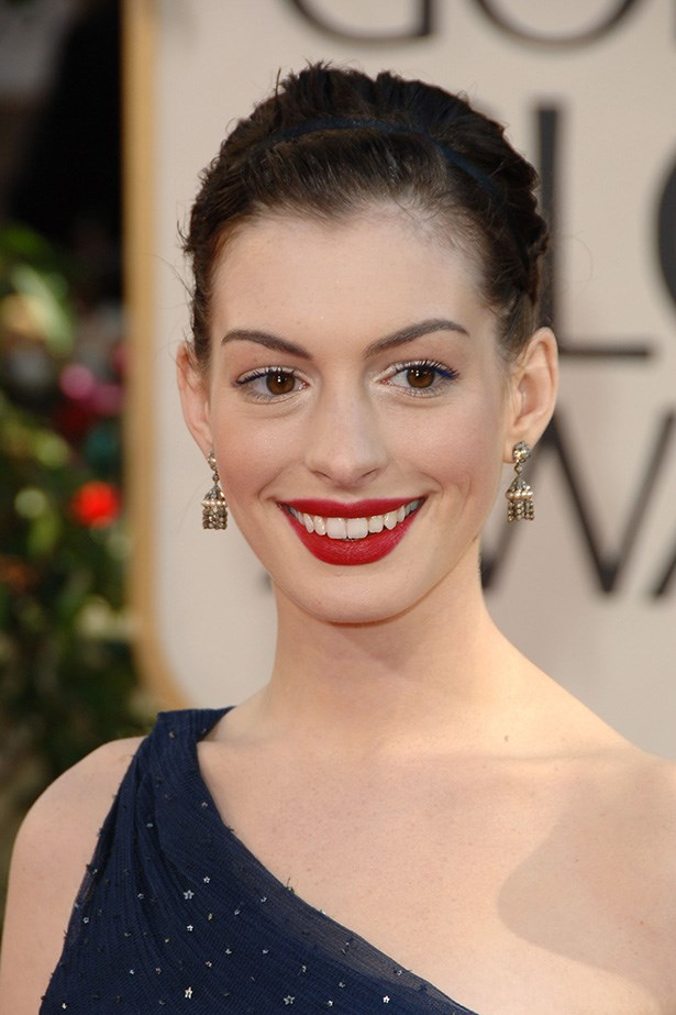 Anne Hathaway at the 63rd Annual Golden Globes in 2006.