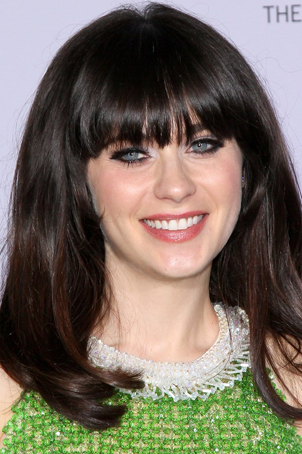 Zooey Deschanel at the 69th Annual Golden Globes in 2012.