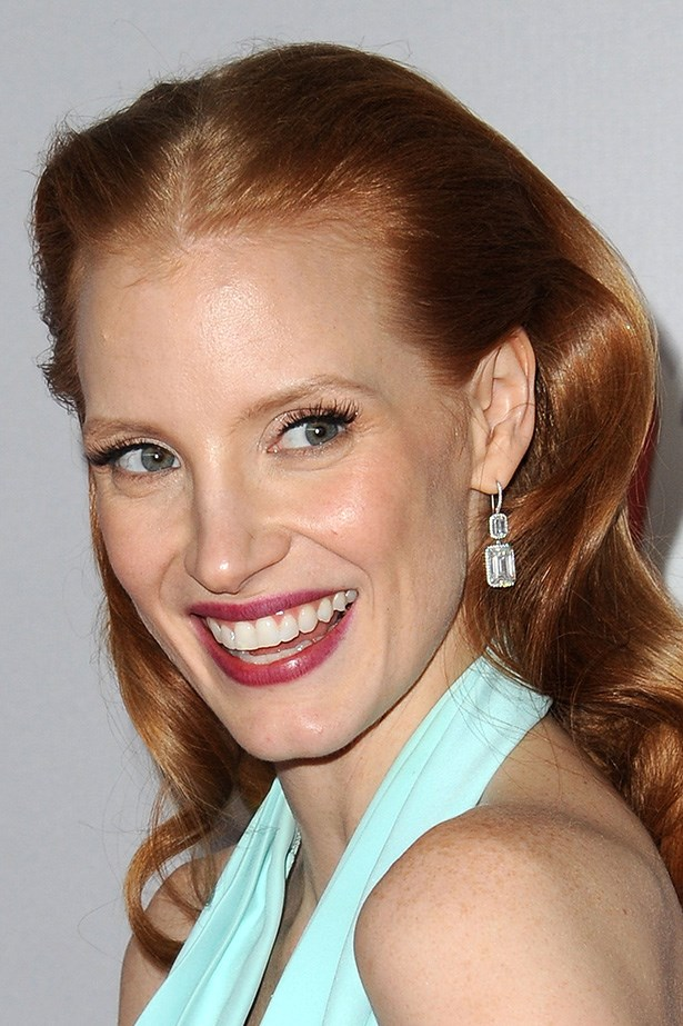 Jessica Chastain at the 70th Annual Golden Globes in 2013.