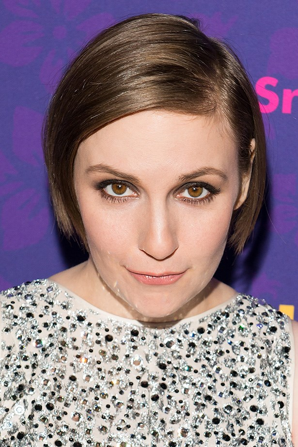 <p> Lena Dunham's chocolate smoky eye and peach lip complemented her hazel eyes and porcelain complexion. (Hannah's mid-breakdown hair chop has grown out nicely)