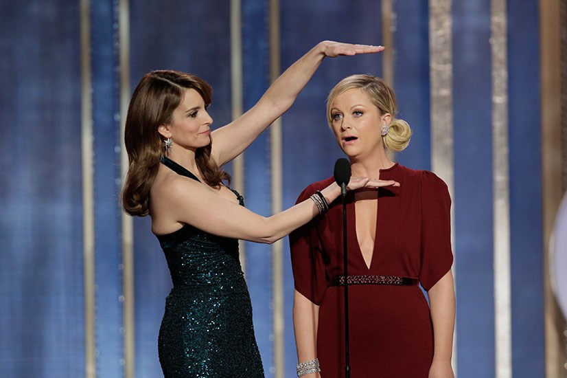 <strong>Tina Fey and Amy Poehler </strong><br> Your Golden Globes co-hosts, Tina Fey and Amy Poehler are well known besties. They starred together in <em>Baby Mama</em>, a film that's arguably less amazing than the duo's combined talents, and recently shared a scene-stealing cameo in <em>Anchor Man 2</em>.