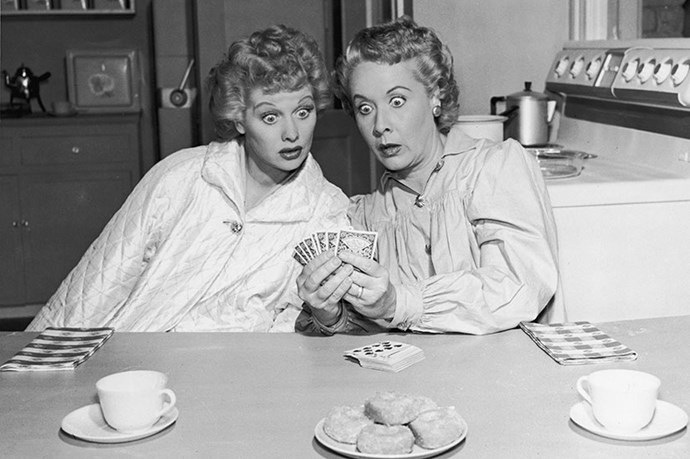 <strong>Lucile Ball and Vivien Vance</strong><br> Even Lucile Ball and Vivien Vance's names sound good together. While their friendship got off to a rocky start, with beautiful Ball nervous that Vance was too young and too pretty to play her landlady foil Ethel in<em> I Love Lucy</em>, when the pair got on set they gelled instantly. Respect blossomed between them, as they proved together, once and for all, that women can be funny, and this was in the tight-laced 1950s.