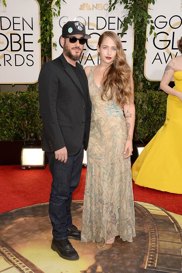 Jemima Kirke with husband Michael Mosberg at the 2014 Golden Globes