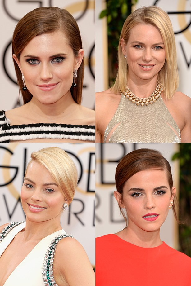 A roundup of the top beauty trends straight from the red carpet