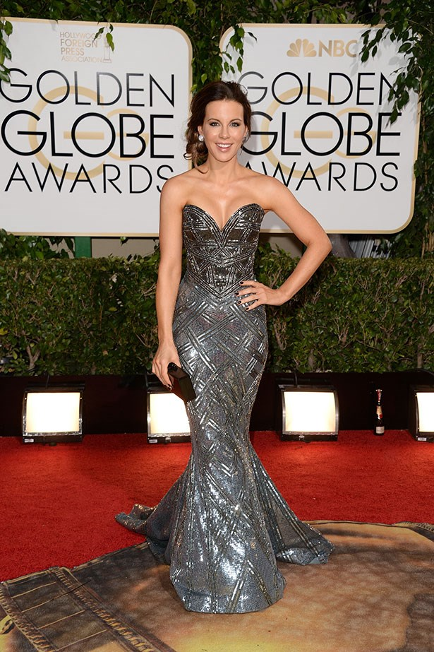 Kate Beckinsale wearing an embellished Zuhair Murad gown