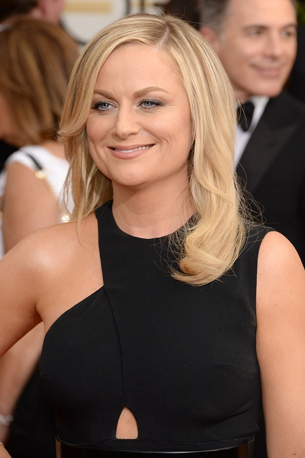 <strong>NUDE HUE<BR></strong> 71st Annual Golden Globes co-host, Amy Poehler was on-trend with a simple nude lip and kohl lined eyes.