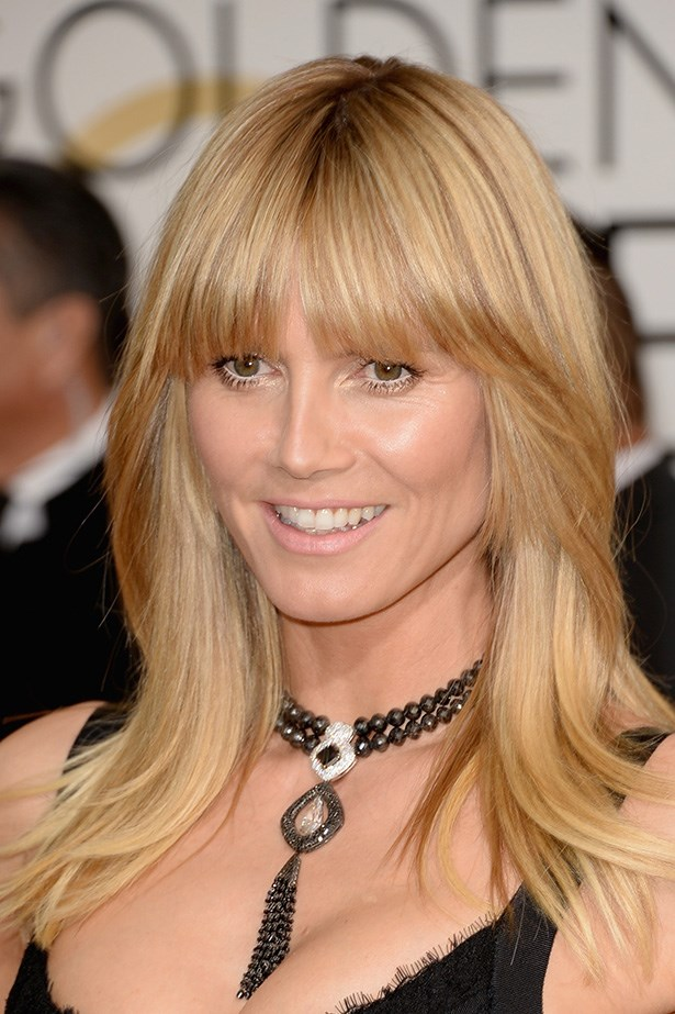 <strong>NUDE HUE<BR></strong> Supermodel, Heidi Klum doesn't need a lot of makeup to look good - on trend with a pink-nude lip.