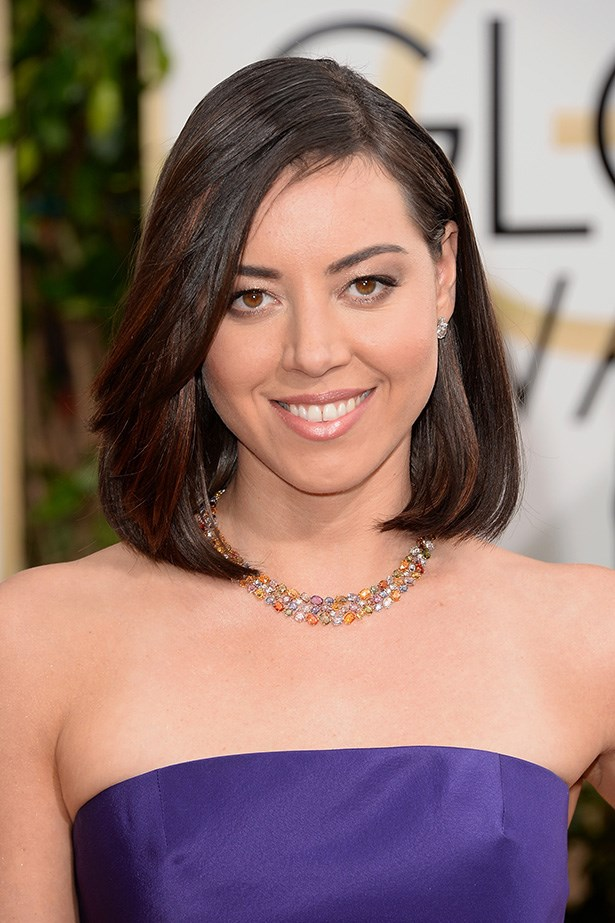 <strong>NUDE HUE<BR></strong> Funny lady Aubrey Plaza kept it simple with a chocolate smoky eye, and a latte-nude lip.